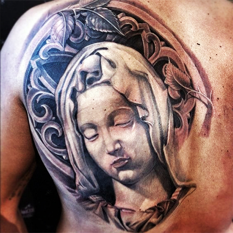 Татуировка Девы Марии