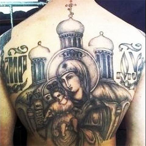 Татуировка Дева Мария и купола