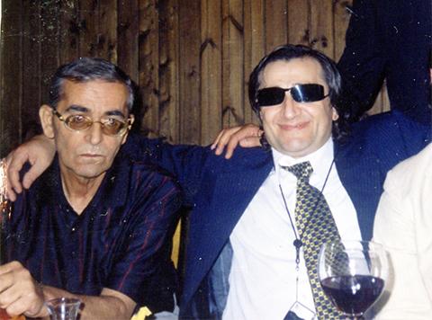 Слева воры в законе: Альберт Цинцадзе (Михо), и Камо Егиазаров(Камо Московский)