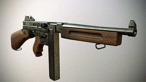 Пистолет-пулемет Томпсона с коробчатым магазином фото