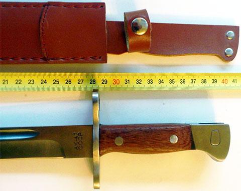 Рукоять штык-ножа АК-47 и кожаные ножны (фото)