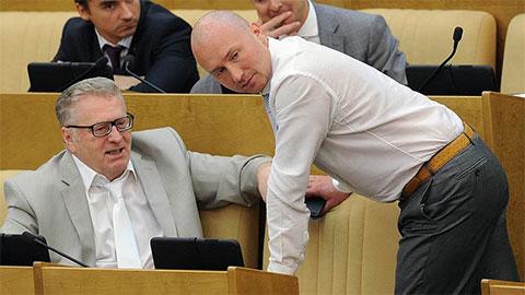 Игорь Лебедев и Владимир Жириновский