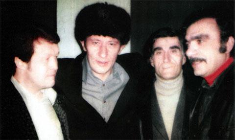 Слева воры в законе: Вячеслав Иваньков (Японец), Валериан Кучулория (Писо), Гайк Геворкян (Гога Ереванский), Саркис Адамян (Борис)