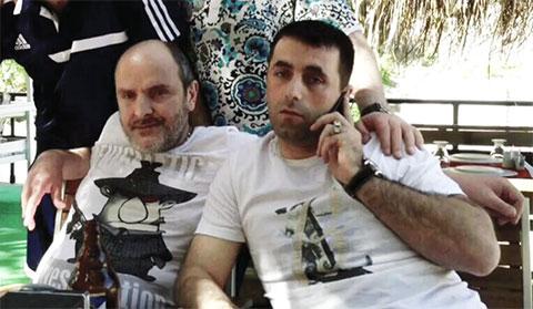 Слева воры в законе: Мераб Бахия (Сухумский) и Артем Саргсян (Саратовский)
