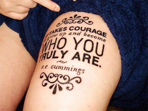 Женская татуировка надписи
