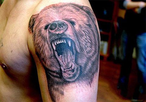 Татуировка с изображением медведя