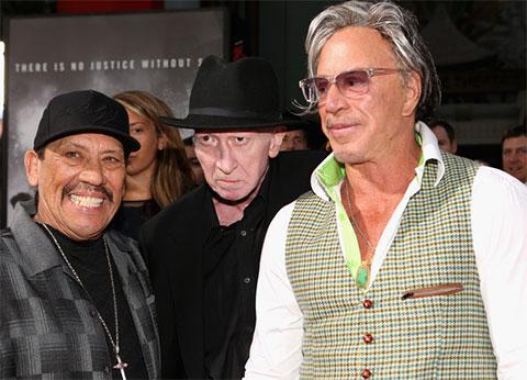 Слева: Дэнни Трехо, Фрэнк Миллер и Микки Рурк