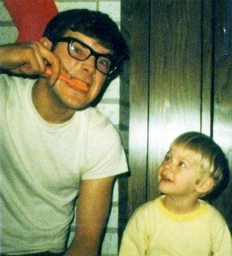 Курт Кобейн с отцом Доном Кобейном