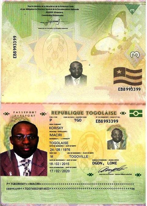 Паспорт Нигерийского адвоката, якобы занимающегося делами наследства и работающему в афере с нигерийскими письмами