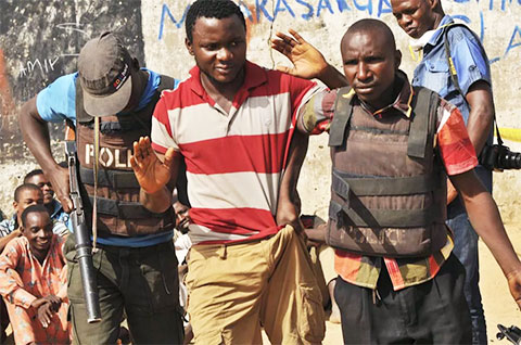 Задержание наркоторговца нигерийскими полицейскими