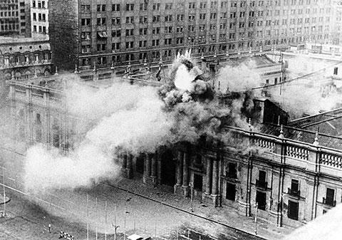 Атака на президентский дворец в Чили