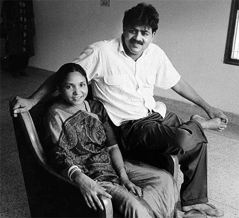 Пхулан Деви с мужем Мулайамом Сингх Ядавом