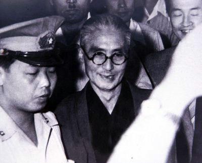Садамиси Хирасава  после оглашения смертного приговора в Верховном суде.