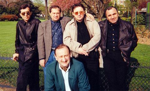 Вверху слева воры в законе: Мераб Джангвеладзе (Мераб Сухумский), Темури Немсицверидзе (Црипа), Мераб Гогия (Мелия), Тариел Ониани (Таро), 2007 год