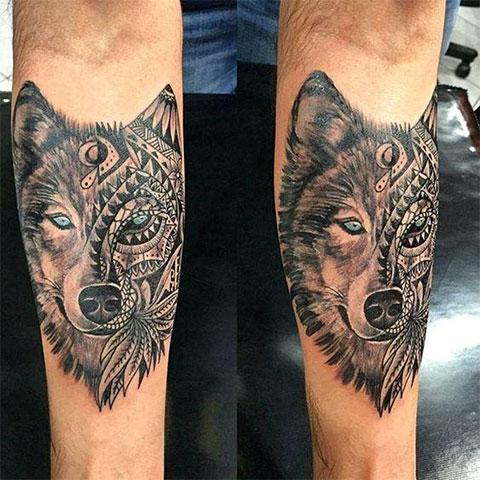 Фото тату волка на руке