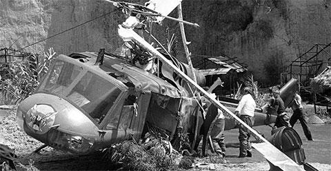 Фото с места крушения вертолета