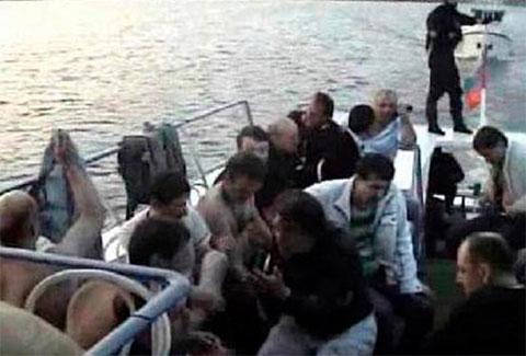 Задержанные воры в законе на Пироговском водохранилище