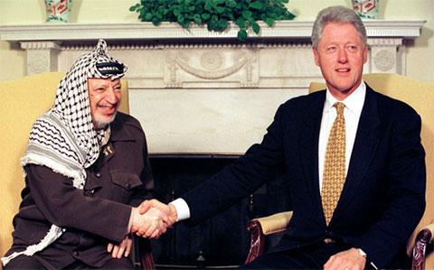 Ясир Арафат и Ббилл Клинтон