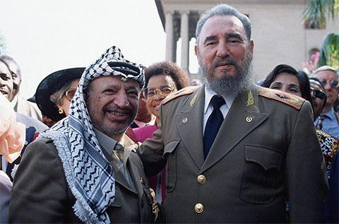 Ясир Арафат и Фидель Кастро