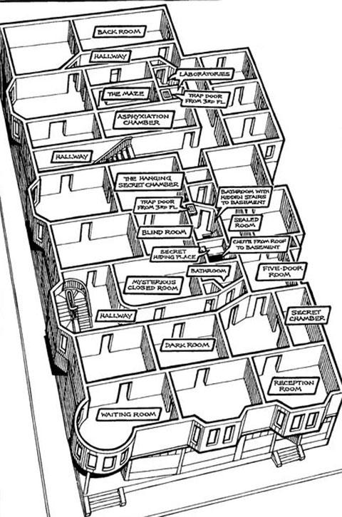 План этажей отеля Холмса
