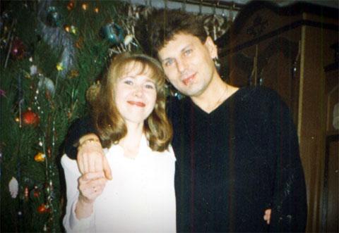 Юрий Хой с женой Галиной Клинских
