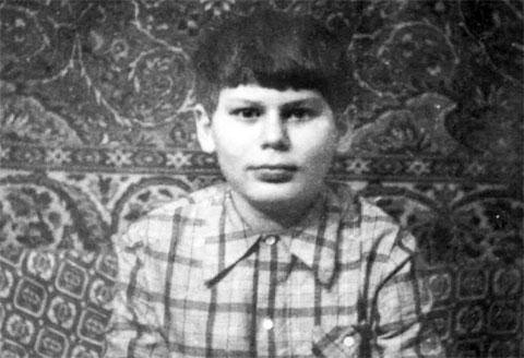 Юрий Клинских в детстве