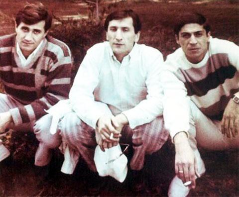 Слева воры в законе: Камо Егиазаров, Вахтанг Шелегия (Отвертка) и Константин Калашян (Котик)
