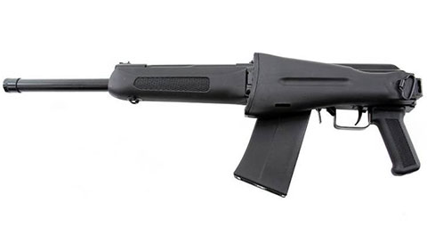 Сайга-12К со складным прикладом и укороченным до 420 мм стволом