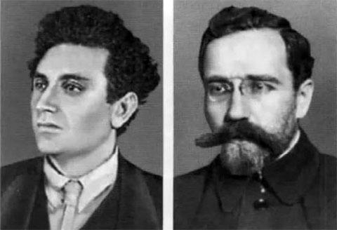 Слева: Григорий Зиновьев и Лев Каменев