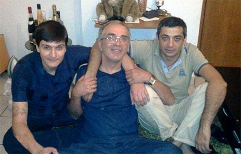 Слева воры в законе: Гайк Саркисян (Айко Астраханский), Гия Цхварадзе (Гия Самтредский) и Валерьян Харебава (Дато Черепаха)
