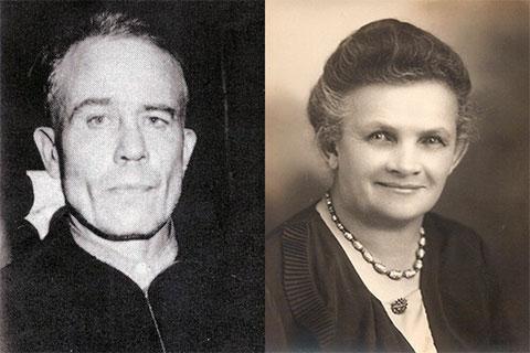 Эд Гейн и его мать Августа Гейн