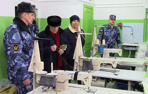 Швейный цех в ФКУ ИК 6 по Кировской области