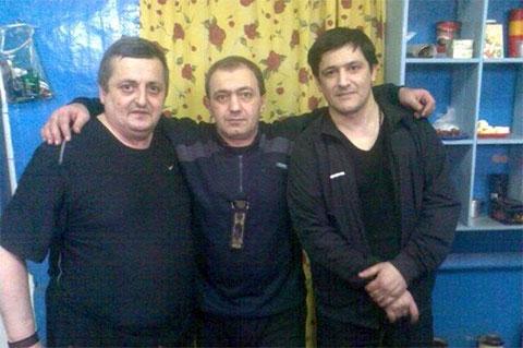 Слева воры в законе: Автандил Кобешавидзе (Авто Копала), Мераб Пипия (Мераб Сухумский) и Виталий Авдиян (Витя Тбилисский)