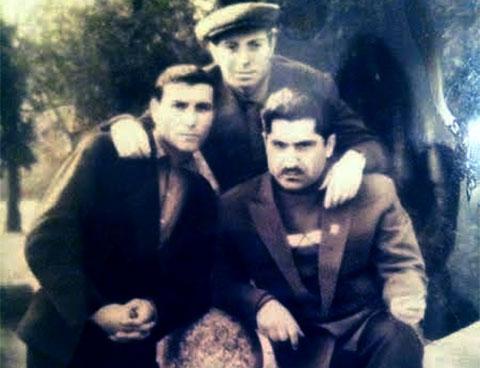 Слева воры в законе: Анзор Вачиберидзе (Тико), Давид Пахуридзе (Минаго) и Кишварди Майсурадзе (Дошто)