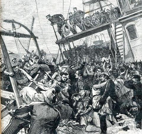 """Картина происходящего во время """"кровавого кораблекрушения"""""""
