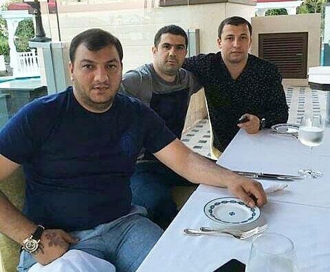 Слева воры в законе: 1) Шалва Озманов (Куся), 3) Хаджибаба Талыбханлы (Хаджи Бейлаганский)