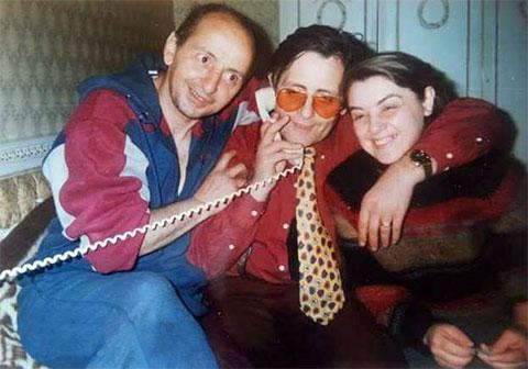 Слева криминальные авторитеты: Зураб Бзикадзе и Тамаз Цинцадзе