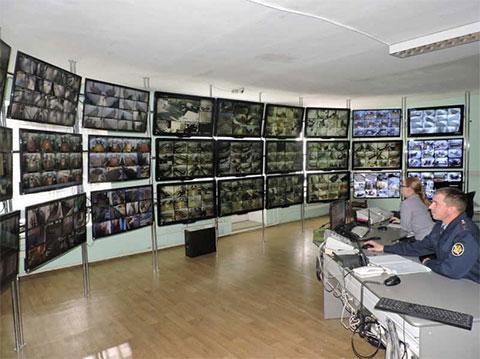 Пост видеонаблюдения в Минусинской тюрьме