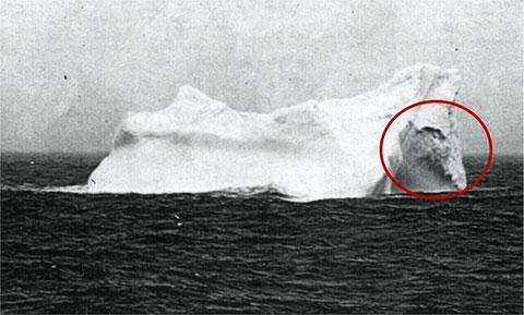 Роковой айсберг, заснятый после крушения Титаника