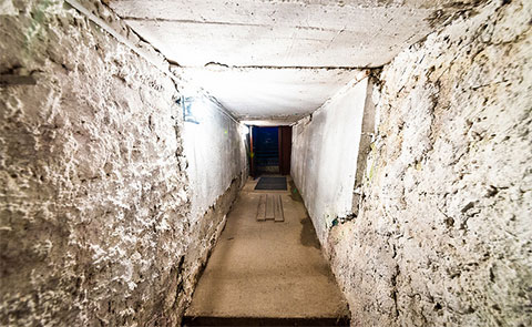 Подземный коридор Тобольского централа, соединяющий тюремные корпуса, проложенный в 1970 году