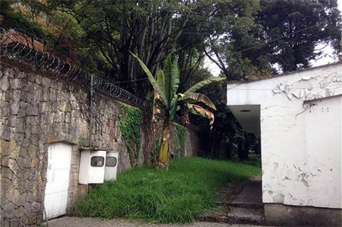 На территории особняка Хосе Гача