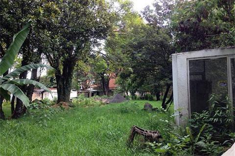 Территория заброшенного особняка Хосе Гача