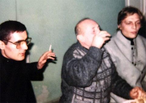Слева воры в законе: Геворг Меликян (Геворик Ошаканский) и Бабкен Егоян (Бабо Тлик)