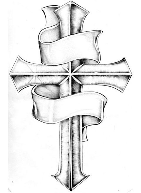 Эскиз для тату крест на руке