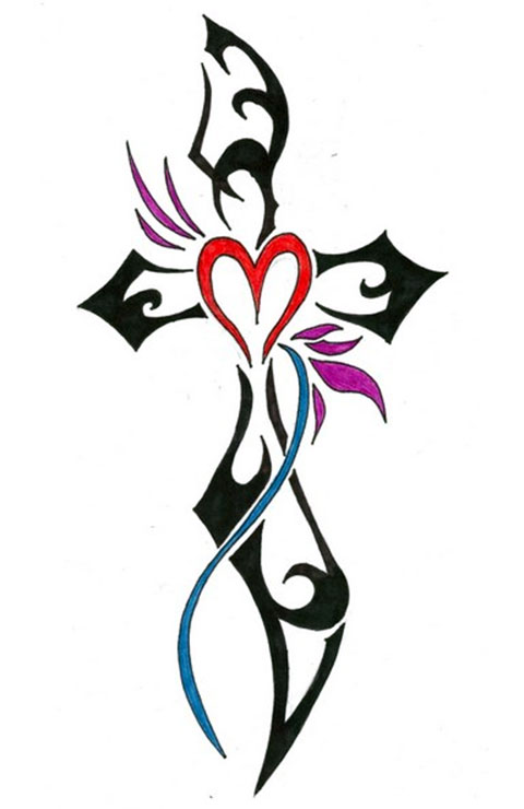 Эскиз тату крест на руке