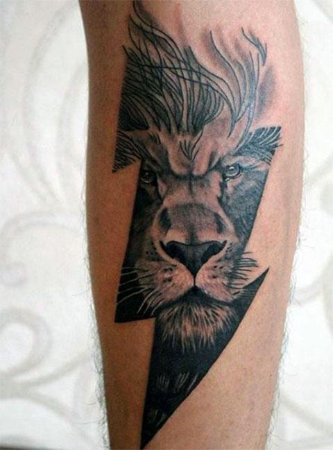 Татуировка льва для мужчин