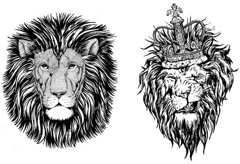 Эскизы для тату со львом на запястье