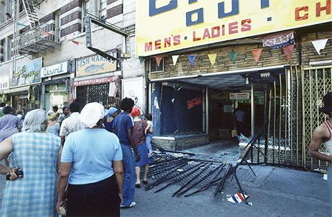 Улица Гарлем утром 14 июля 1977 года