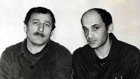 Слева воры в законе: Бондо Мумладзе и Нугзар Эргемлидзе