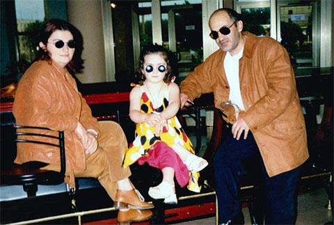 Нугзар Эргемлидзе с женой и дочкой